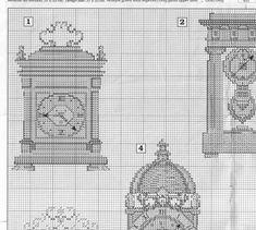 Schema punto croce Orologi Da Parete 2
