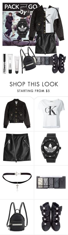 """all black"" by vallierre ❤ liked on Polyvore featuring Moschino, Calvin Klein Jeans, Dsquared2, adidas, Yves Saint Laurent, H&M, Calvin Klein, Chanel and BOY London"