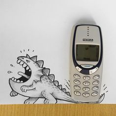 Manik N Ratan's adorable doodles interact with real life objects