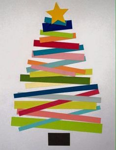 Xmas tree crafts for kids! Christmas Tree Crafts, Christmas Projects, Winter Christmas, Holiday Crafts, Holiday Fun, Christmas Holidays, Simple Christmas, Christmas Card Ideas With Kids, Paper Christmas Trees