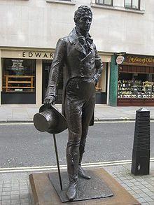 Statue of Beau Brummell on Jermyn Street, London. ~Arbiter of Fashion~ Prinz Charles, Prinz William, Gentlemans Club, Wassily Kandinsky, London City, King George Iv, Beau Brummell, Savile Row, Regency Era