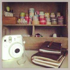 Midori Traveler's Notebook, Fujifilm Instax and a lot of Maskingtape! My dream!