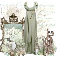 The Lady of Shalott by mlleemilee on Polyvore featuring Eileen Kirby, Masquerade, Van Cleef & Arpels, Dolce&Gabbana, Lalique, LIST and theladyofshalott