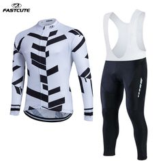 Fastcute Pro Long Sleeve Cycling Jersey Sets Breathable 3D Padded ropa ciclismo Mountain Bicycle Bike Cycling jersey LL9     #Affiliate