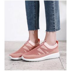Comfortable Pink Mesh Running Shoes Casual Sports Shoes Hui Li Sneaker you best choice for School, Going out -TOP Design by FSJ Long Boots, High Boots, Flat Shoes, Oxford Shoes, Leather Shoes, Denim Shoes, Summer Boots, Canvas Sneakers, Sport Casual