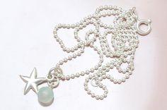 Ketten kurz - Kette Seestern 925er Silber Chalcedon - ein Designerstück von sgiese bei DaWanda