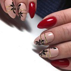 Dope Nails, Red Nails, Beige Nails, Nail Art Arabesque, Dope Nail Designs, Manicure, Nagellack Design, Nail Art Blog, Autumn Nails