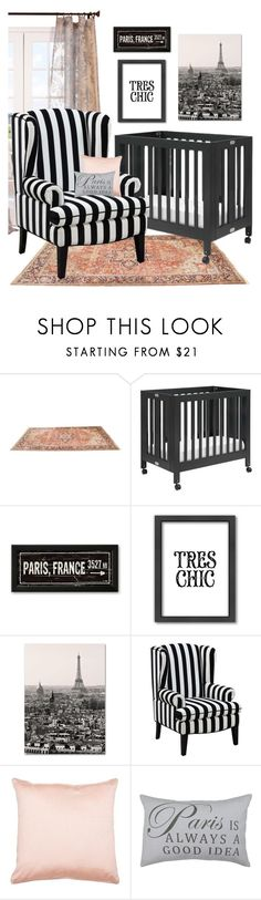 """""""chic baby."""" by tothineownselfbtrue ❤ liked on Polyvore featuring interior, interiors, interior design, home, home decor, interior decorating, Half Price Drapes, Babyletto, Americanflat and Trademark Fine Art"""