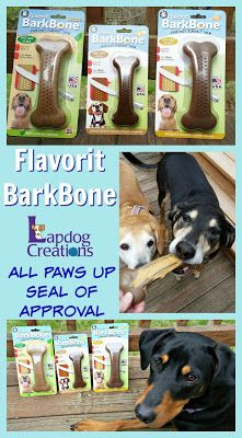 The Lapdogs give Flavorit BarkBone their ALL PAWS UP seal of approval #adDog Mom   Dog Products   Life with Dogs   Dog Chew   Reviews