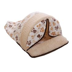 KUANG YANZI Warm Cozy Pet Cave Nest Dog Cat Coral Fleece Flower Print Winter Sleeping Beds >>> Click image to read more details.