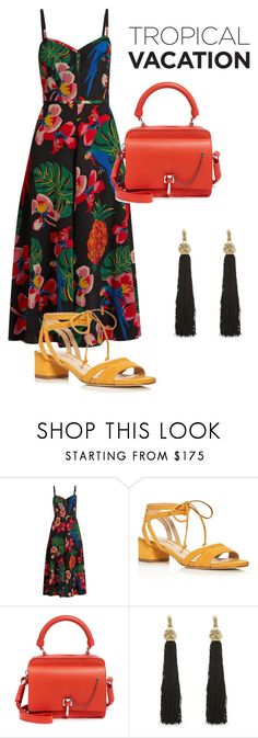 """""""Summer in San Juan"""" by nycleigh on Polyvore featuring Valentino, Via Spiga, Carven and Yves Saint Laurent"""