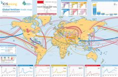 Global fertilizer trade-flow, production, consumption and price trend map - Produced by ICIS in partnership with IFA