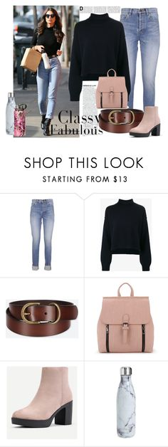 """каждый день"" by ira-gonchar ❤ liked on Polyvore featuring Yves Saint Laurent, Rejina Pyo, Uniqlo, S'well and look"