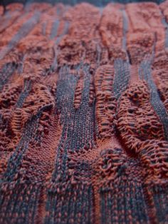 drop stitch / plating / machine knit / dubied / Becky Wood