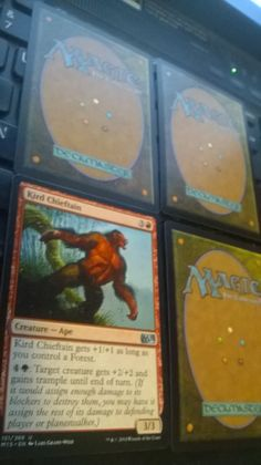 1x Kird Chieftain uncommon M15 Magic The Gathering plus 3 bonus card(s)