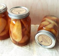 Homemade Vanilla Bourbon Pears Canning Recipe Homesteading  - The Homestead Survival .Com