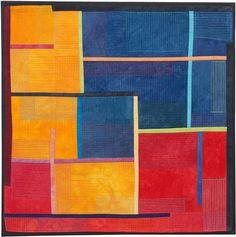 Structures #172, Contemporary Textile Painting/Art Quilt, Artist Lisa Call, Waikanae Beach, Kapiti, New Zealand