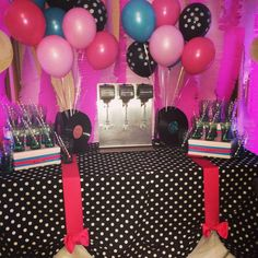 1950's Sock Hop Party Decorations | Tables, The o'jays and Sock ...
