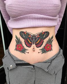 1d6935a2ce3e4 traditional butterfly tattoo on stomach Traditional Butterfly Tattoo,  Traditional Hand Tattoo, Tatuagem Old Scholl