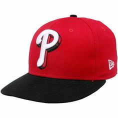 405aaf6970f New Era Philadelphia Phillies Red-Black Shadow Logo 59FIFTY Fitted Hat