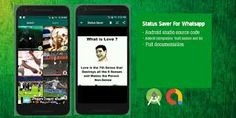 Status saver is a unique app.you easily save WhatsApp status video easily. Images and videos are also saved in the gallery. You easily share status w… Andriod Apps, The 7th Sense, Android Studio, Save Video, Social Link, Latest Android, View Video, What Is Love, Save Yourself