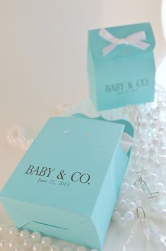 Amazing Tiffany Blue Baby Shower Favor Bags With Ribbon By SosiaToGo, $17.50