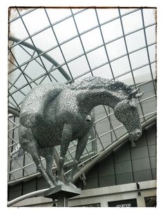Day 17: Trinity Leeds - The Opening - Beautiful Andy Scott sculpture - Pack horses made Leeds.