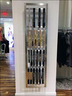 BCBG Belts Vertical Wall Merchandising Fixture