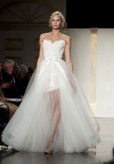 Romantic 2-in-1 wedding dress  I ❤❤❤ this