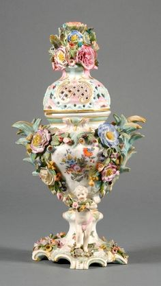 Dresden Porcelain (Germany) — Potpourri and Cover