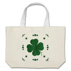 Shamrocks Bag   •   This design is available on t-shirts, hats, mugs, buttons, key chains and much more   •   Please check out our others designs at: www.zazzle.com/ZuzusFunHouse*