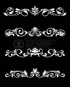 Buy Retro Borders and Dividers in Floral Style by VectorTradition on GraphicRiver. Set of retro borders and dividers in floral style. Editable (you can use any of your vector program) and JPEG (c.DOB DOB's media statistics and analyticsSimilar Images Stencil Patterns, Stencil Designs, Embroidery Patterns, Border Design, Pattern Design, Border Pattern, Fabric Design, Estilo Floral, Motif Arabesque