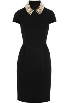 Moschino Cheap and Chic | Embellished cutout crepe dress | NET-A-PORTER.COM