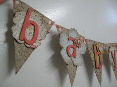 Vintage Baby Banner...Stampin' Up