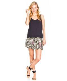 Faldas Vila Clothes Vibutterflies Verde en Nice & Crazy
