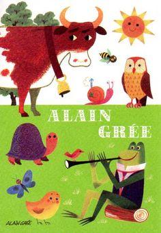 <3 X100. CHILDREN'S ILLUSTRATION by classic children's illustration by French illustrator Alain Grée