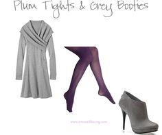 Plum coloured tights