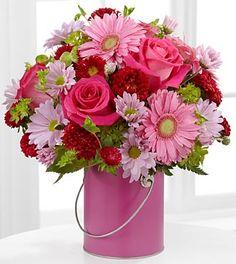 The FTD® Color Your Day With Happiness™ Bouquet - VASE INCLUDED- Deluxe