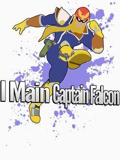 """I Main Captain Falcon - Super Smash Bros."" T-Shirts & Hoodies by PrincessCatanna | Redbubble"