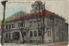 Logan Court House, Logan, West Virginia. Built 1904, destroyed by fire 1911.