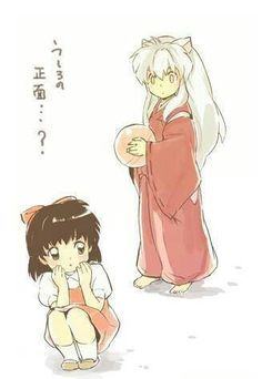 Inuyasha and Kagome as kids <3
