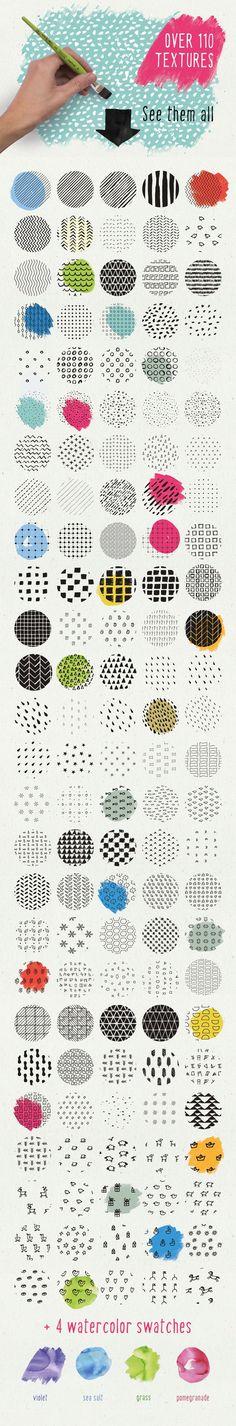 HandSketched Seamless Pattern Pack by V�tek Prchal on Creative Market