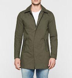 CALVIN KLEIN JEANS Jacke aus beschichteter Baumwolle - Artis J30J300101346