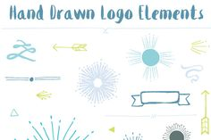 Hand Drawn Logo Elements by FIELDandFOUNTAIN on Creative Market