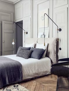 Pierre Emmanuel Martin and Stéphane Garotin apartment, Maison Hand, bedroom…
