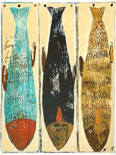 Mixed Media Painting, Love Painting, Original Artwork, Original Paintings, Fish Tales, Paper Artwork, Canadian Artists, Outsider Art, Fish Art