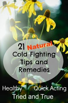 21 Natural Cold Fighting Tips and Remedies from Readers - herbs, essential oils, homemade tinctures and more!