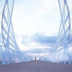 Meadows Salford Elliptical bridge by Penda 5