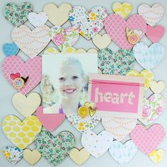 Heart - Scrapbook.com - Made with American Crafts products.