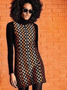sexy Minikleid mit starkem Muster